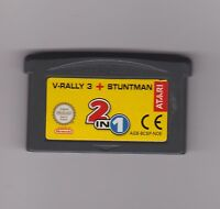V-RALLY 3 + STUNTMAN - Game Boy Advance Gba - Versione Europea - CARTUCCIA FE