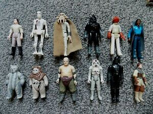 """VINTAGE STAR WARS """"A SELECTION OF USED FIGURES"""" ALL 70,S AND 80,S,PLAY/RESTORE"""