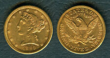 1899-S US Liberty / Coronet Head - Half Eagle $5 Five Dollars Gold Coin AU