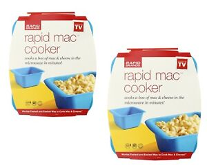 Rapid Mac and Cheese Cooker Dish for Microwave, BPA Free, 2 Pack
