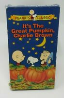 PEANUTS - IT'S THE GREAT PUMPKIN, CHARLIE BROWN ANIMATED VHS VIDEO, CLASSIC, GUC