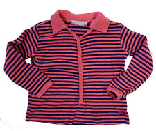 Boutique Brand Polo Shirt Imps and Elfs Rose Pink Purple Striped Size 18m
