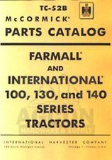 INTERNATIONAL Farmall 100 130 140 Parts Catalog Manual