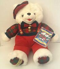 "Vintage 1996 Snowflake DanDee Teddy Bear With Tag Book Christmas Holiday 22"""