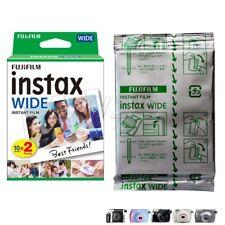 10pcs Fujifilm Instax Instant Film WIDE White Picture for Camera 200/210/300/100
