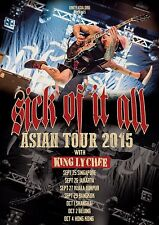 """SICK OF IT ALL/KING LY CHEE """"ASIAN TOUR 2015"""" CONCERT POSTER-Hardcore Punk Music"""