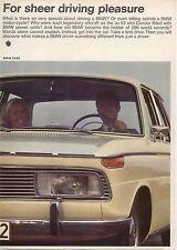 BMW 1600 1800 2000 Ti CS 1966-67 Original UK Sales Brochure Pub. N° 19198e