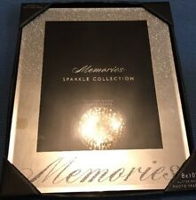 "💜 SILVER Sparkle MEMORIES Glitter Effect Picture Photo Frame 8"" x 10"" Inch GIFT"