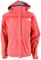 THE NORTH FACE Womens Rain Jacket Size 14 Medium Red Nylon Loose Fit  CJ19