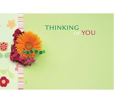 """50ct. """"Thinking of You"""" Daisy Flowers Blank Florist Enclosure Cards Small Tags"""