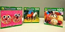 Fun Cool PuzzleBug Lot of 3 - 100 Piece Jigsaw Puzzles New Sealed