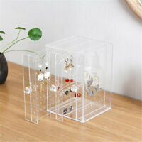 Acrylic Jewelry Holder Display Rack Clear Earrings Ring Necklace Stand Organizer