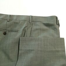 SuitSupply Sienna Textured Gray Wool Dress Pants Flat Front 40 40S (short)
