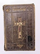 *The Book of Common Prayer Mini Leather Book Bible Vtg Antique Distressed Old