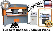NEW!! CJRTec 35 Ton Traveling Head Clicker Press Full Automatic CNC