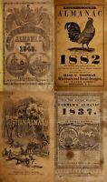 21 OLD RARE SCARCE ALMANACK KALENDAR ASTRONOMICAL BOOKS (1781-1882) ON DVD