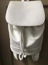 Forever 21 White Faux Leather Bag/Purse/Back Pack With Adjustable Straps