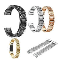 Lady Bracelet Stainless Steel Rhinestone Wrist Band For Fitbit Charge 3 Charge3