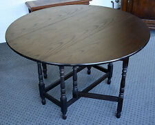 antiker runder Gateleg - Tisch aus Eiche