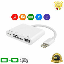 USB Lightning OTG Multifunctional Slot Card Reader Adapter for iPhone 8PLUS iPad