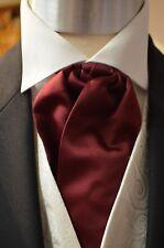 Pre-Tied Adjustable Classic Cravat Burgundy Wedding, Formal, Prom