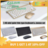 UltraSlim 2.4GHz Wireless Keyboard and Mouse Set For Gamer PC Laptop Desktop MAC
