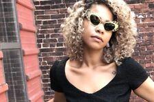 Vintage Sunglasses 50's France Black Cat Eye Gold Cut Out Paulette Guinet?