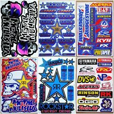 Moto-GP Supercross Dirt Bike Dirt Rider Motocross ATV Racing Car Stickers 6 sh.