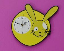 Cute Little Rabbit Cartoon - Wall Clock