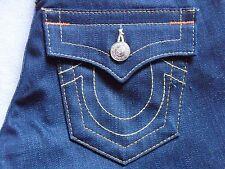 TRUE RELIGION WOMENS BILLY DARK DENIM SLIM STRAIGHT LEG SNAKE JEANS SIZE 26 NEW
