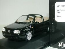 WOW EXTREMELY RARE VW Golf IV 4 Cabriolet 2.0 8V 1999 Black 1:43 Minichamps-R32