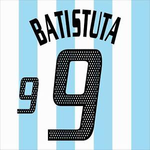 Batistuta 9. Argentina Home football shirt 2002 - 2003 FLEX NAMESET NAME SET