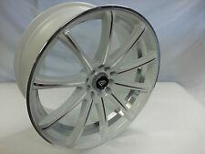 18 Inch White Diamond Edition # 3195 White Machine wheels rims fit 5X100 Matrix