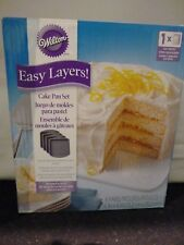 WILTON Easy Layers Baking Tin 6inch Square - 4 pieces Cake Pan set