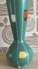 West German Florero Vintage Atomic Eames era de estilo vintage y retro verde 60s Abstracto