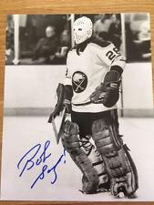 Buffalo Sabres Bob Sauve signed 8x10 W/COA pose 6