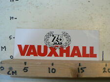 STICKER,DECAL VAUXHALL 75 JAAR CAR AUTO NOT 100 % OK A