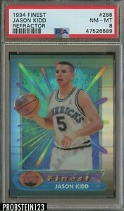 1994 Topps Finest Refractor #286 Jason Kidd Mavericks RC Rookie PSA 8 NM-MT