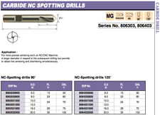 Carburo sólido 6mm NC Spot manchado Taladro 120 grados Europa herramienta 8064030600 5