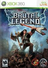 NEW SEALED XBOX 360 Brutal Legend Video Game Multiplayer Online Full 1080p HD