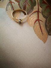 Solitär Brillant Ring, 0,09 ct, IF, Wesselton, 585 Gelbgold, Größe 51. TOP!