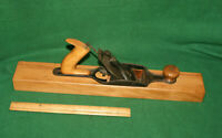 "ANTIQUE BIRMINGHAM ""B"" WOOD PLANE OCT. 22 1889 TRANSITIONAL FORE PLANE INV#JS03"