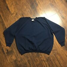 Vintage Fruit Of The Loom Plain Blank Pullover Crewneck Sweatshirt Sz 3XL