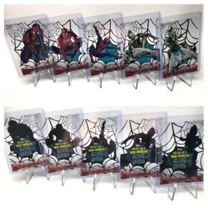 Spider-man Web-Shooter Clear Cards, Chase / Insert Set C1-C5 by Topps 2002