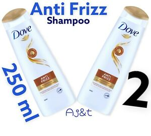 Dove Anti Frizz Shampoo   For  Frizzy and Dry Hair 2 x 200 ml