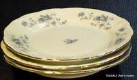"3 pcs JOHANN HAVILAND china BLUE GARLAND pattern 3 Bread & Butter Plates ~6 1/4"""