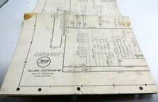 "Vintage Williams ""Cabaret"" Pinball Electronic Schematic Wiring Diagram"