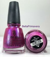 China Glaze Nail Polish Caribbean Temptation 181 Opalescent Bright Pink  Lacquer