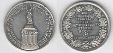 Lippe-Detmold 1875 Vollendung Hermannsdenkmal. Zinnmedaille Denkmal / Schrift im