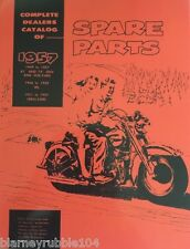 Harley Parts Manual Catalog Book 1949 to 1957 Panhead 45 WL Servi Police
